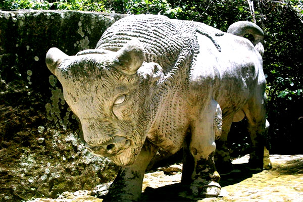зоопарк каменных зверей