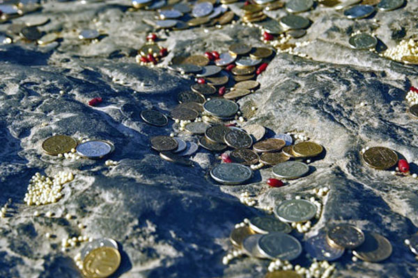 монетки на Синь-Камне